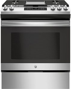 GE 30 Inch Slide-in Gas Range with Sealed Burner Cooktop, cu. Primary Oven Capacity, in Stainless Steel