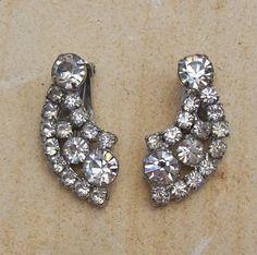 1950s clip on earrings.