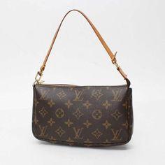 Louis Vuitton Pochette Accessoire Monogram Handle bags Brown Canvas M51980