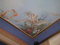 Ceiling Painting, Ceiling Murals, Floor Murals, Faux Painting, Ceiling Decor, House Painting, Painting Wallpaper, Wall Wallpaper, Fresco