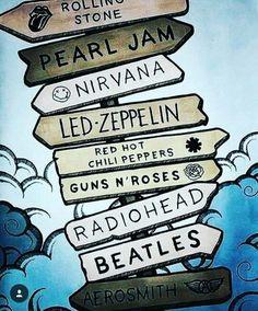 20 Ideas For Music Rock Art Legends Guns N Roses, Aerosmith, Ac/dc Poster, Nirvana, Metallica, Roses Quotes, Roses Tumblr, Rock Band Posters, Rock Band Logos