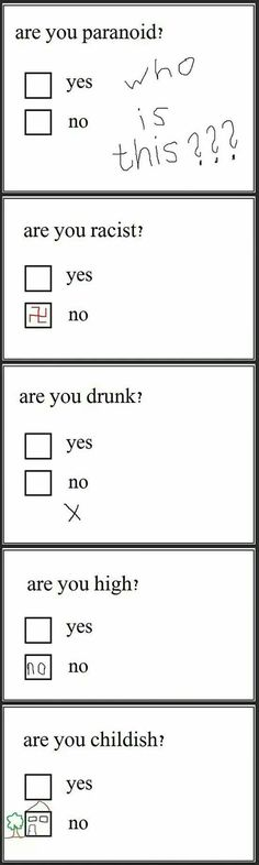Think Twice Next Time You Answer A Questionnaire - haha #humor #funny #lol