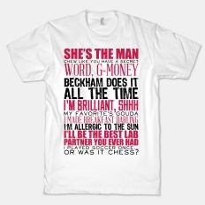 She's The Man Quotes -  Browse | HUMAN | Well-designed + Affordable T-Shirts, Art Prints, Posters, & Accessories