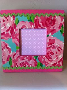 lilly pulitzer inspired picture frame