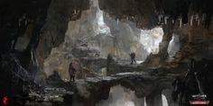 The Witcher 3 Blood and Wine cave, Andrzej Dybowski on ArtStation at https://www.artstation.com/artwork/NJkOq