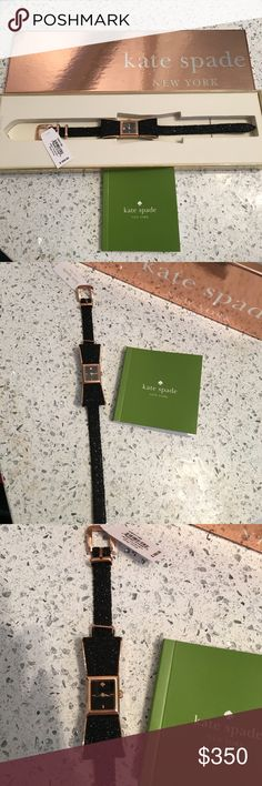 NEW Limited Edition Kate Spade Glitter Bow Watch NEW Limited Edition Kate Spade Glitter Bow Watch. NEVER USED. Tags still attached. Stored in box. HOST PICK! 🎉 kate spade Accessories Watches