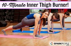 Need a great inner thigh workout? Then stop what you're doing and in 10 minutes you will strengthen and tone your thighs with the best inner thigh workout ever! Body Fitness, Fitness Diet, Fitness Motivation, Health Fitness, Fitness Workouts, Thigh Exercises, Thigh Workouts, Lower Body Workouts, Elliptical Workouts