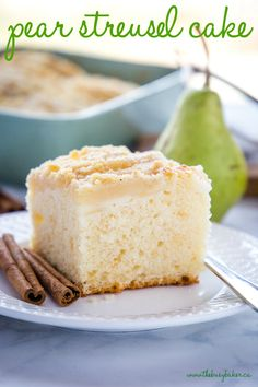 Pear Dessert Recipes, Pear Recipes, Easy Desserts, Cake Recipes, Fruit Dessert, Fruit Recipes, Desserts With Pears, Pastries Recipes, Recipies