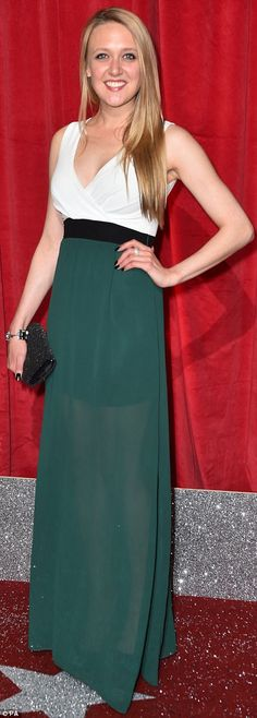 EastEnders' Jasmine Armfield and Emmerdale's Emily Head both opted for emerald-coloured looks Emily Head, Emmerdale Actors, Catherine Tyldesley, Soap Awards, Soap Opera Stars, Cool Outfits, Actresses, Celebrities, Lady