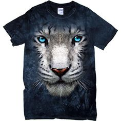 [Tie Dye Tee] - Oversized White Tiger - Artopia | With the Tie Dye pattern, no two shirts are the same!Our Tie Dye Tee is made with 5.3 oz. 100% cotton and is preshrunk.