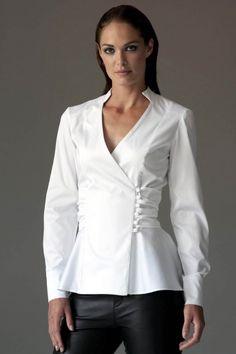 The Shirt Company White Shirt Outfits, White Cotton Blouse, Classic White Shirt, White Shirts Women, Peplum Shirts, Dress Tutorials, Tea Length Dresses, Office Outfits, Dress Patterns