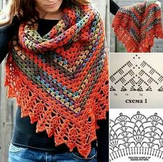 - Diversamente Crochet By MaryRose Crochet Shawl Free, Crochet Lace Edging, Crochet Coat, Crochet Shawls And Wraps, Knitted Shawls, Crochet Scarves, Crochet Clothes, Crochet Stitches, Crochet Designs