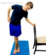 Iliotibial band stretches.  Approved use HEP2go.com  (The affected leg is the back leg)