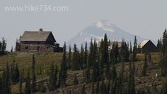 Granite Park Chalet with Rainbow Peak along Highline Trail in Glacier National Park. Video blog, photos, and trail description. Hiking in Glacier National Park with Hike 734.