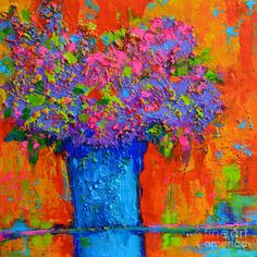 Joyful Painting - Joyful Perfection - Modern Impressionist Art - Palette Knife Work by Patricia Awapara