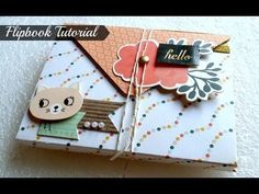 Cómo hacer un miniálbum Flipbook. Tutorial Scrapbook - YouTube