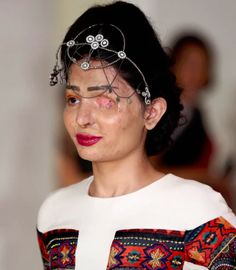 Reshma Qureshi, the woman who survived an acid attack and went on to walk in a show at New York Fashion Week.