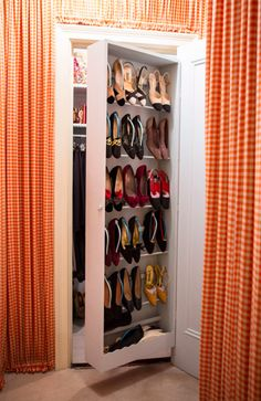 shoe compartments built into the door! The New York Apartment Of Betty Halbreich