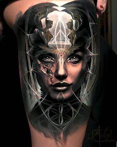Tattoo photo - The NeverEnding Story tattoo by Arlo DiCristina Forarm Tattoos, Leg Tattoos, Body Art Tattoos, Sleeve Tattoos, Tatoos, Script Tattoos, Creative Tattoos, Unique Tattoos, Beautiful Tattoos