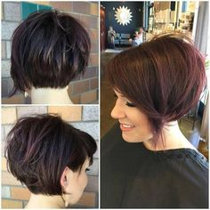 45 Trendy Short Hair Cuts for Women 2019 - PoPular Short Hairstyle Ideas Chic Everyday Hairstyles for Women - Asymmetrical Short Hair Cuts 2017 Modern Bob Haircut, Pixie Bob Haircut, Short Bob Haircuts, Short Hairstyles, Haircut Short, Short Undercut, Trendy Haircuts, Stacked Hairstyles, Latest Haircut