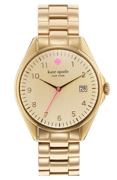 "I think I should celebrate Daylight Savings by buying this. (kate spade ""seaport grand"" watch)"