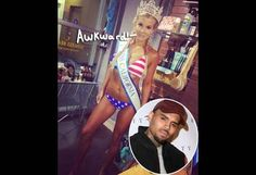 Chris Brown's Gun Accuser Baylee Curran Spotted Strutting To One Of The Singer's Songs During A Pageant!