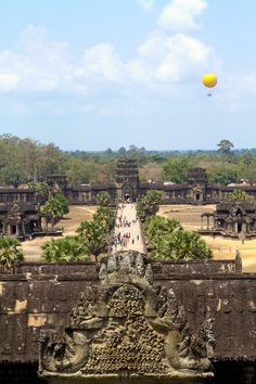 Back from Cambodia -- yellow balloon