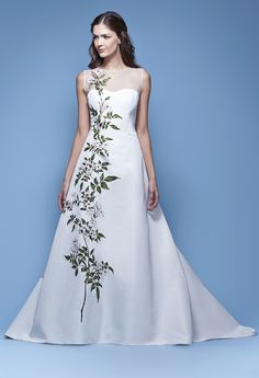 """Carolina Herrera """"Jasmine."""" For more information contact The White Room at (205) 970-6767. Featured in the August 2015 Trunk Show at The White Room."""