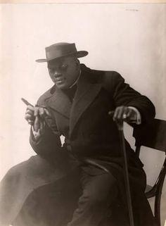 Legendary African American boxer Jack Johnson.