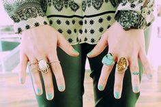 turquoise on turquoise