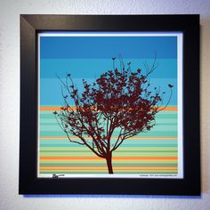 "Gallery: Pop series ""Youth tree"" (2015) 12 x 12 inch, Digital art - Giclee print on enhanced matte paper. 14 X 14 inch, frame - Stain black and glass. Signed by Jon Savage ---------------------------------- #art #artist #popart #popartist #digitalart #contemporary #contemporaryart #youth #tree #sunrise #sunset #sandiego #california #jonsavagegallery"