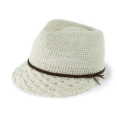 EBH9840- Women's Crochet Fedora Cap $84