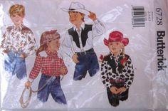 Buterick 6728 Boys Girls Western Shirt Pattern by Denisecraft, $5.99