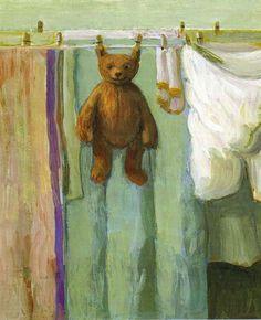 "Illustration by Michael Sowa from ""Ein Bär namens Sonntag"" by A. Hacke"