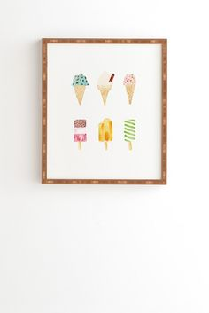 Laura Redburn Ice Cream Selection Framed Wall Art | DENY Designs Home Accessories