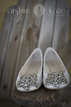 Wedding Shoes, Bridal Shoes, White Shoes, Ballet Flats (Pensacola, Florida)