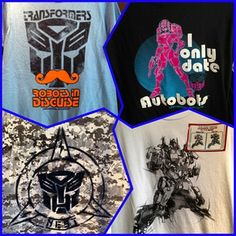 Some of the Transformers shirts you can purchase