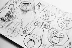 Gorilla Gadgets Identity by Hidden Characters , via Behance