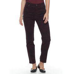 Petite Gloria Vanderbilt Amanda Classic Tapered Jeans, Women's, Size: 12 Petite, Med Purple