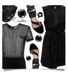 """Black"" by dolly-valkyrie ❤ liked on Polyvore featuring ADRIANA DEGREAS, SUGAR LIPS, Ginger & Smart and Effy Jewelry"