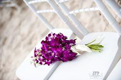purple orchids, beach wedding, chiavari chairs, destination wedding
