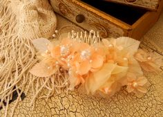 peaches and cream hair accessory