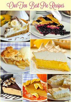 Rock Recipes Top Ten Pie Recipes.Take a look at the top ten pie recipes ever featured on RockRecipes.com Cream Pie Recipes, Pastry Recipes, Dessert Recipes, Cooking Recipes, Dinner Recipes, Sweet Butter, Rock Recipes, Pie Crumble, Best Pie