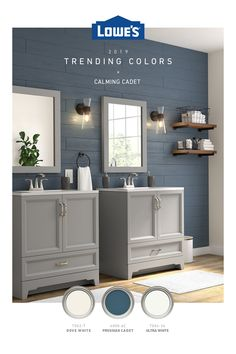 From pinspiration to the finishing touches, Lowe's has the trending colors you love to bring your dream room to life.