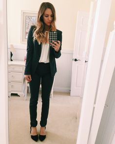 Grey Fitted Women's Suit - Business Professional Attire. #workwear ...