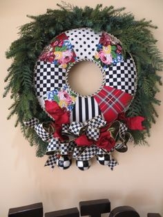 This wreath gets lots of attention for visitors to my store