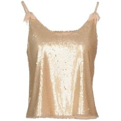 Darling Top ($84) ❤ liked on Polyvore featuring tops, skin color, no sleeve tops, sequin sleeveless top, sleeveless jersey, sequin embellished top and polyester jersey