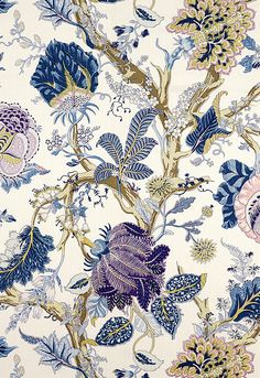 Fabric | Indian Arbre in Hyacinth | Schumacher