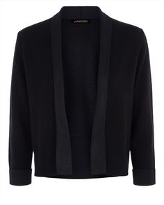 Double-Faced Knitted Jacket,Black