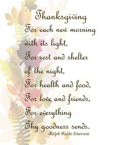 Thanksgiving Fall Leaves Image, Emerson Thanksgiving Prayer Quote, Wall Art, Autumn Wall Décor, Family Room, Dining Room Décor,Prayer by ICreateAndCollect on Etsy